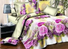 Exquisite Sunflower and Roses #3D Printed 4-Piece Polyester Duvet Cover #bedroom #bedding