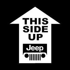This Side Up Jeep Decal by SplintersCustomWood on Etsy https://www.etsy.com/listing/192548726/this-side-up-jeep-decal