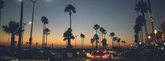 Newport Beach California at Night Facebook cover