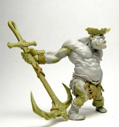 Bugne Transformation from the King Maulg miniature. Resin, Milliput.