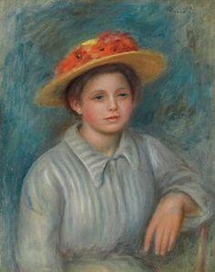 Pierre-Auguste Renoir (1841-1919) | Portrait de femme au chapeau fleuri | Impressionist & Modern Art Auction | 19th Century, Paintings | Christie's
