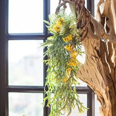 Wreath Spring Green on Rattan – RusticReach Yellow Plants, Willow Branches, Spring Green, Handmade Flowers, Silk Flowers, Rattan, Color Mixing, Planting Flowers, Greenery
