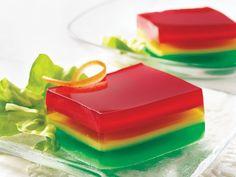 Yogurt-Gelatin Ribbon Salad