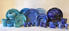fiestaware blue color comparison - Google Search
