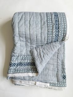 Kerry Cassill Quilts - Blue Ticking