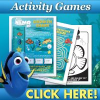 Complimentary Finding Nemo Coloring Pages & Activity Sheets