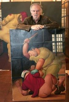 Fernando Botero, Latin American artist, Paintings about Abu Grahib prison. Famous Artists, Great Artists, Latino Artists, Artist Art, Artist At Work, Frida Diego, Mexico Art, American Artists, Art History