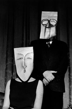 vintage everyday: Mask Series with Saul Steinberg Photographed by Inge Morath, 1959-1962