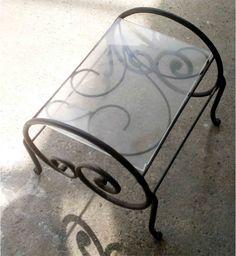 Tavolino da salotto a due ripiani  in ferro di artisticwroughtiron