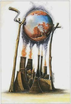 Best Artwork and Illustrations images You Must See! Satire, Global Warming Drawing, Global Warming Poster, Earth Drawings, Global Warming Climate Change, Climate Warming, Save Environment, Satirical Illustrations, Graphic Illustrations