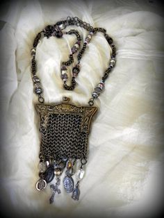 Prayers Always With Me Little Vintage Chainmail by vintagevalise, $144.00