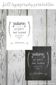 Fall Typography Printables for easy fall decor!  via createcraftlove.com #ad #GraphicStockChallenge https://ooh.li/759252d