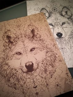 wolf with sacred geometry