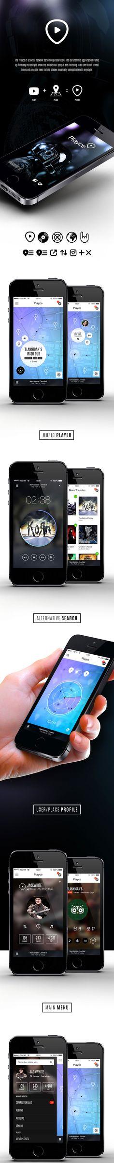 Playce mobile application design - #ux #ui