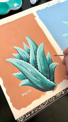 Painting Aloe 🎨😃 by Philip Boelter - bild - Best Picture For cactus flower For Your Taste You are looking for something, and it is going to t - Gouche Painting, Kunst Inspo, Art Watercolor, Plant Painting, Painting On Wall, Aesthetic Painting, Diy Canvas Art, Painting Techniques, Amazing Art
