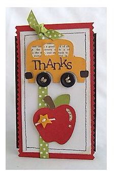 Cricut card for a teacher or school bus driver Teacher Appreciation Cards, Teacher Cards, Teacher Gifts, Scrapbook Paper Crafts, Scrapbook Cards, Scrapbook Rooms, Cricut Cards, Cricut Creations, Card Tags
