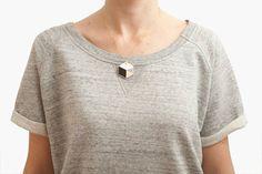 hexagon necklace - by depeapa via etsy