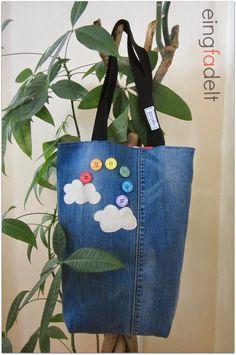 eingfadelt: Regenbogentasche