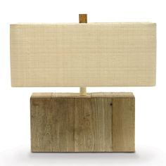 Palecek Driftwood Rectangle Lamp http://www.plumgoose.com/palecek-driftwood-rectangle-lamp.html