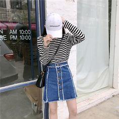 Mini Denim Skirt Women 2017 Summer Casual Split High Waist sexy girl slim  Short Jeans Skirt Irregular Sexy Pencil tassels Skirts-in Skirts from  Women s ... a33066125771