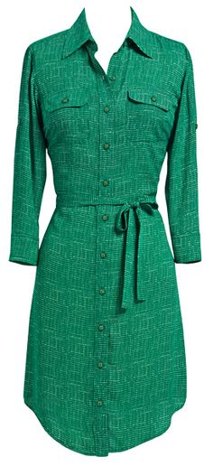 The #CAbi Spring '13 Emerald Shirt Dress (among the many crown jewels of this collection!) is the perfect ensemble for ladies who brunch!