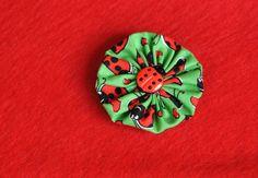 Ladybug Hair Clip by TheLavenderLounge on Etsy, $2.50