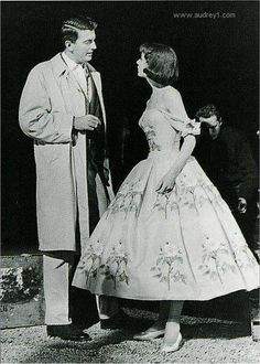 Audrey Hepburn and givenchy on the set of   Funny Face