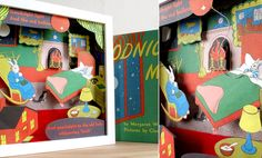 Goodnight Moon Recycled  How to turn a favored book into a shadowbox display-awesome idea if you have extra copies or the book is totally broken