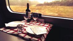 mad på farten, kulinarisk oplevelse, opdækning, togkupe, togvogn, spisevogn, dsb
