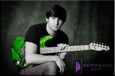 Grad portrait. Cool guitar! #photography #Ideas  #Green