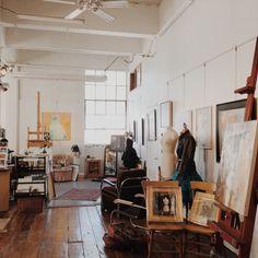 "matissie: ""an art studio i toured yesterday :~) ig: fleurilie """