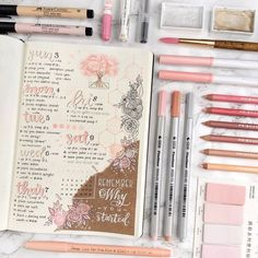 Easy Bullet Journal Ideas To Well Organize & Accelerate Your Ambitious Goals scrapbook school layouts Bullet Journal Planner, Bullet Journal Notebook, Bullet Journal School, Bullet Journal Spread, Bullet Journal Ideas Pages, Bullet Journal Layout, Bullet Journal Inspiration, Journal Pages, Bullet Journals