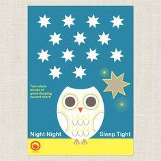 Good SLEEPING REWARD CHART - two weeks of good sleeping chart download