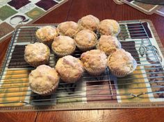 Apple sauce muffins that I made from a recipe from my board foods to try to make