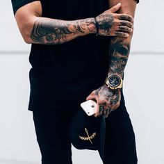 Today, millions of people have tattoos. From different cultures to pop culture enthusiasts, many people have one or several tattoos on their bodies. While a lot of other people have shunned tattoos… Hand Tattoos, Tattoos Arm Mann, Arm Tattoos For Guys, Future Tattoos, Forearm Sleeve, Mens Sleeve, Sleeve Tattoos For Men, Inked Men, Popular Tattoos