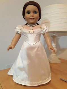"""1890s Evening Gown for18"""" AG Dolls, PemberleyThreads $80"""