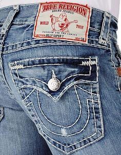 True Religion Brand Jeans, TRUE-4286 Men's Billy Natural Super T - Medium Drifter with Rips, truereligionbrandjeans.com