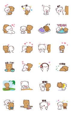 Milk & Mocha: Unstoppable Lovers Sticker for LINE, WhatsApp, Telegram — Android, iPhone iOS