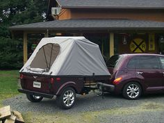 PT Cruiser Trailer, PT Cruiser Camping Trailers, and Lightweight Trailers by Tentrax. Tent Trailers, Trailer 2, Camping Trailers, Chrysler Pt Cruiser, My Dream Car, Dream Cars, Pt Cruiser Accessories, Lightweight Trailers, Cruiser Boards