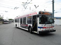 SEPTA New Flyer trackless trolley at Frankford Depot. New Flyer, Philadelphia, Philadelphia Flyers