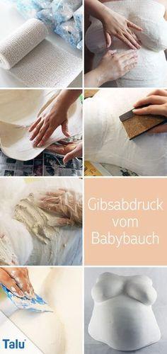 Gipsabdruck vom Babybauch - Anleitung - Talu.de