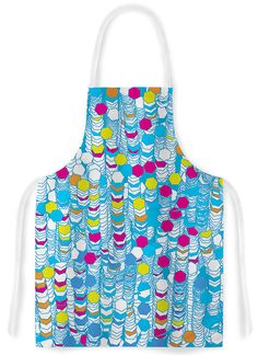 Color Hiving by F eric Levy-Hadida Blue Abstract Artistic Apron
