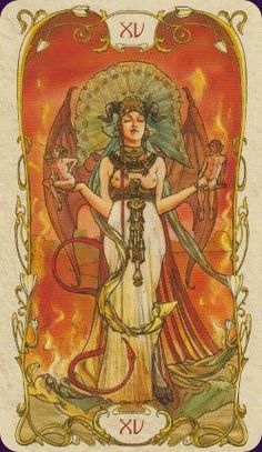 Tarot Mucha in the Gallery at Tarocci's Tarot. I love this deck.