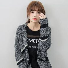 Buy 'Tokyo Fashion – Stripe Melangé Knit Cardigan' with Free International Shipping at YesStyle.com. Browse and shop for thousands of Asian fashion items from Taiwan and more!