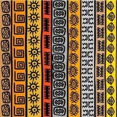 Stock Vector Vector - Seamless pattern with ethnic African m.- Stock Vector Vector – Seamless pattern with ethnic African motifs Stock Vector Vector – Seamless pattern with ethnic African motifs - Motifs Textiles, Textile Patterns, Art Patterns, Floral Patterns, Prints And Patterns, Animal Patterns, African Textiles, African Fabric, African Patterns