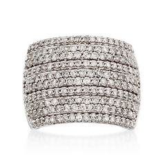 Shut the front door, this is freaking gorgeous...2.00 ct. t.w. Wide-Band Pave Diamond Ring in 14kt White Gold