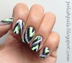 Ikat Nails! <3