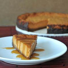 Maple Cream Pumpkin Cheesecake with Buttery Gingersnap Crust (GF)