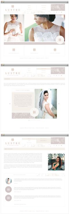 Custom Wordpress Website Design for Lustre by Cassandra Couture - Design and developed by Salted Ink Digital Design Co.