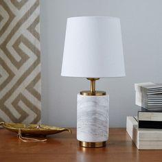Small Pillar Table Lamp - Marble | west elm